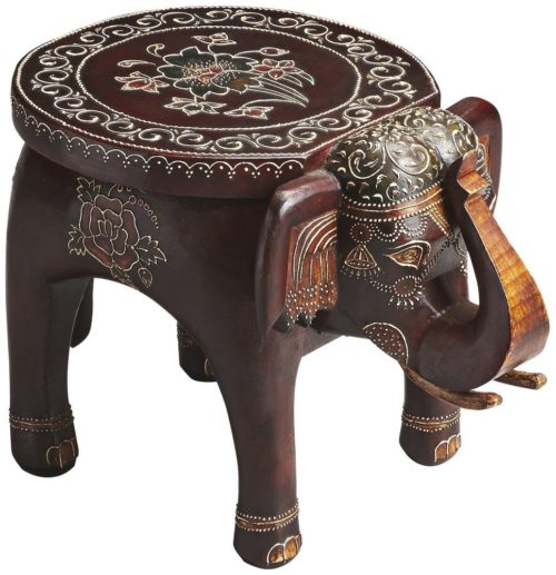 wood elephant table