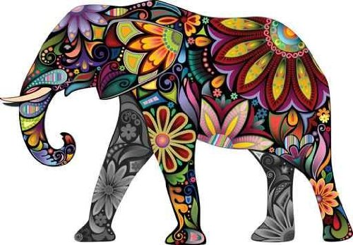 Cheerful Elephant wall decal