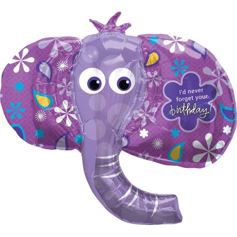 Birthday Elephant Shaped Balloon