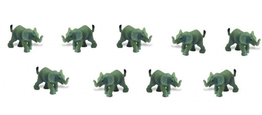 tiny elephant replicas