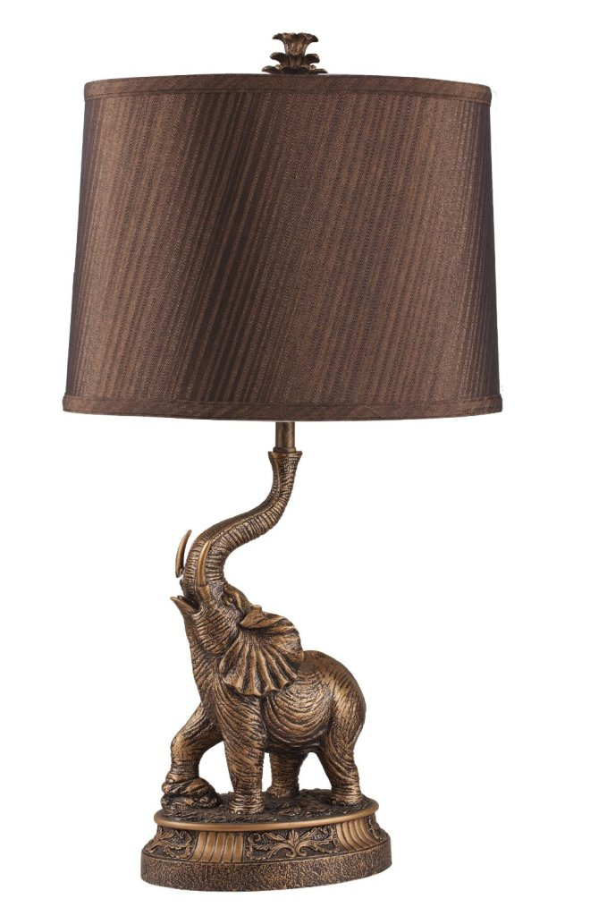 Bronze Elephant Table Lamp