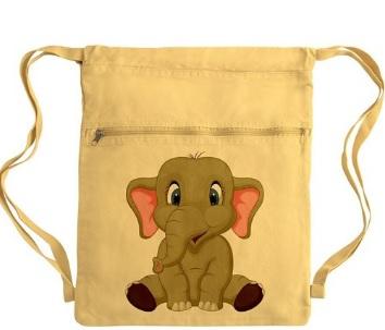 cotton elephant bag
