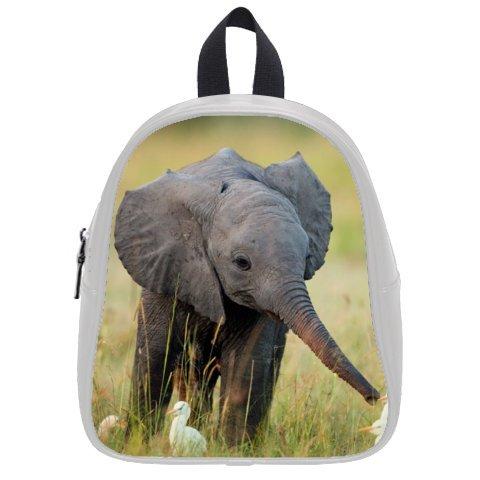 Cute Baby Elephant Print Kid's School Bag