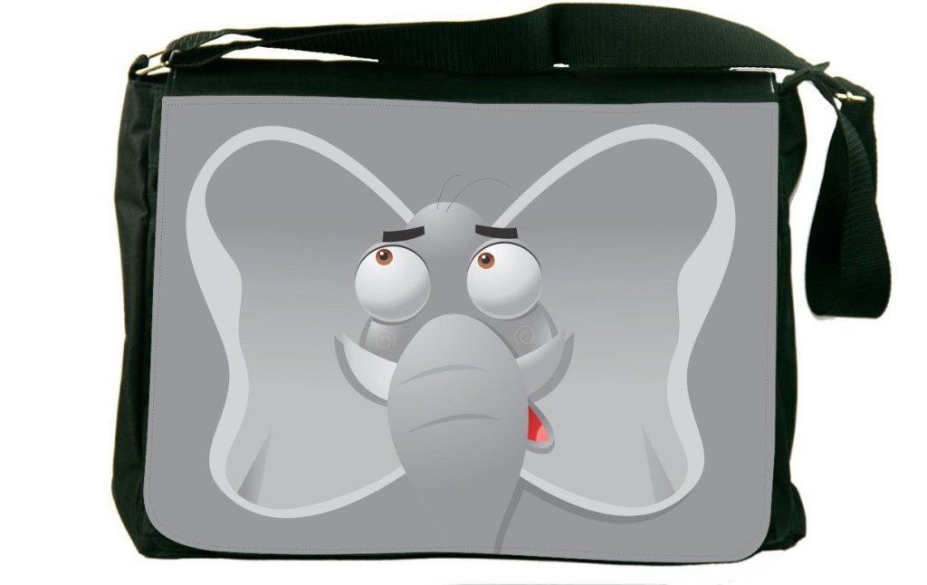 Funny Elephant Cartoon Face Messenger Bag for Teens