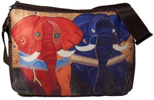 Painted Elephants Messenger Bag