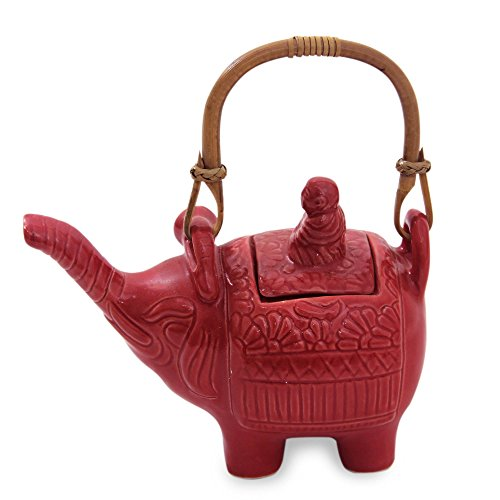 Cool Buddha and the Ruby Elephant Ceramic Teapot