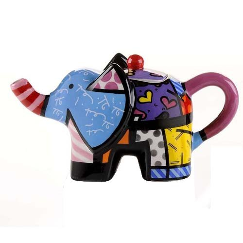 Romero Britto Mini Elephant Teapot
