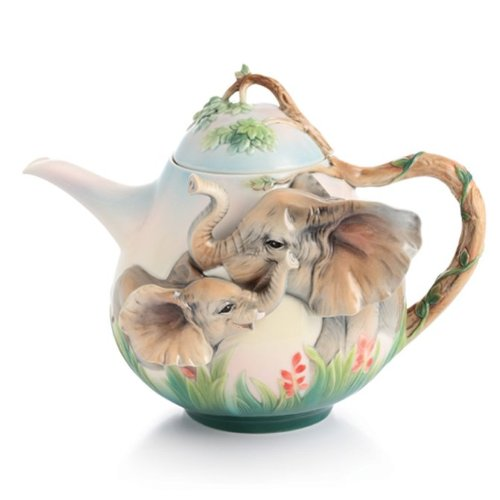 Beautiful Porcelain Elephant Teapot