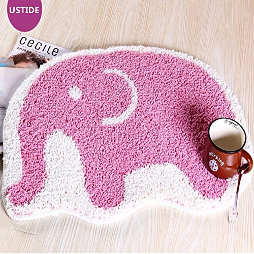 PINK Elephant Shaped Bath Mat