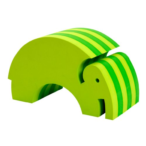 Cool Green Foam Tumbling Elephant Sitting Toy