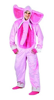 Pink Elephant Man Adult Costume