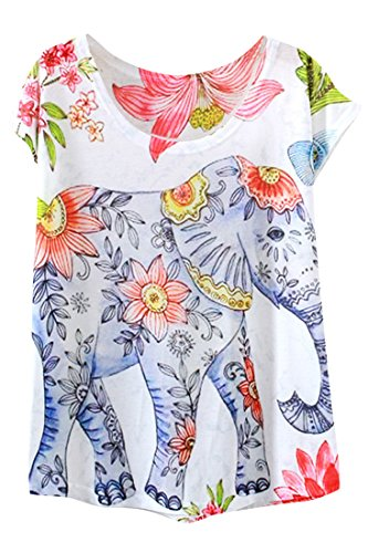 Cute, Colorful and Affordable Soft Elephant Tee for Women