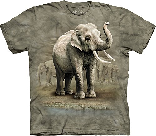 Asian Elephants Cotton T-Shirt