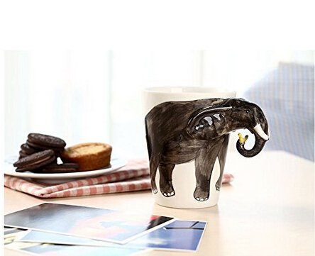 3D Elephant Coffee Mug