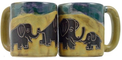 Artistic Elephant Design Ceramic Coffee Cup