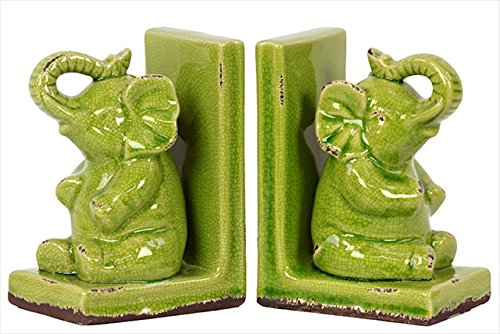 Cute Decorative Stoneware Elephant Bookends