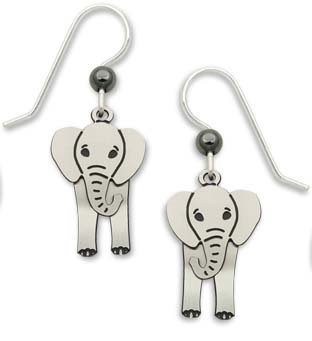 Cute Elephants with Swaying Head Earrings