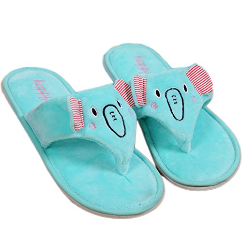 Cartoon Elephant Plush Slipper Flip Flops