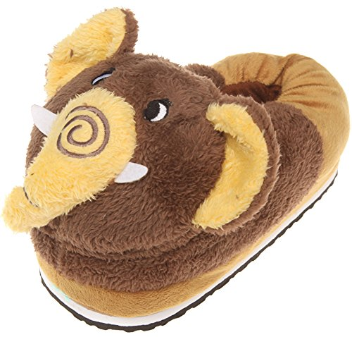 Cute Brown Elephant Slippers