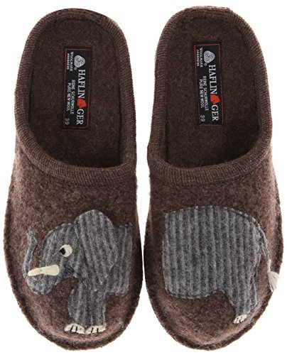 Beautiful Elephant Design Wool Slippers for Adults