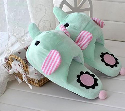 Elephant Soft Plush Slippers for Women