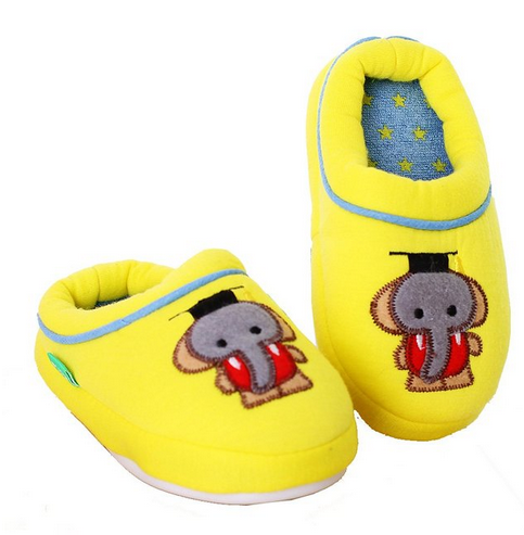 Adorable Colorful Cartoon Elephant Slippers for Children