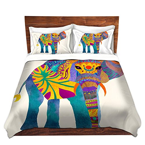 Artistic Elephant Design Brushed Twill Duvet Cover Set