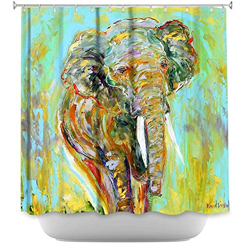 Colorful Artistic Elephant Shower Curtain