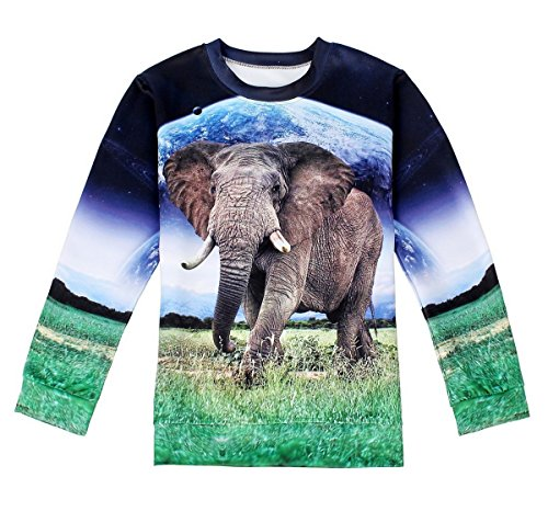 Women's Fun Elephant Print Sweater