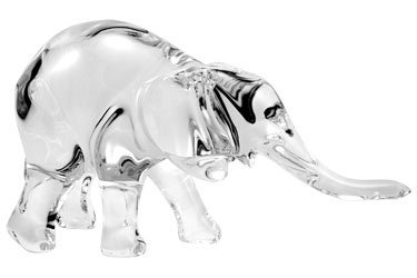 Unique Baccarat Crystal Elephant
