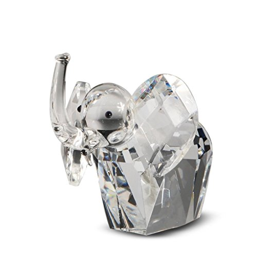 Cute Crystal African Elephant Figurine