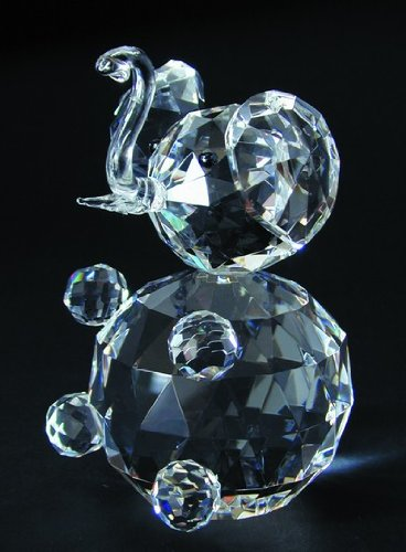 Adorable Sitting Crystal Elephant