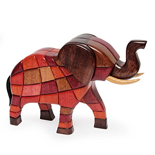Unique Wood Elephant Figurine