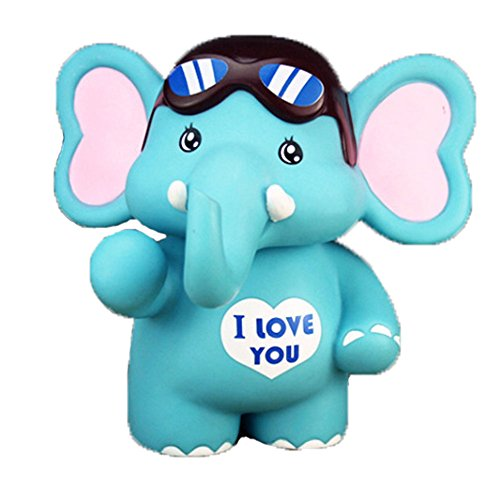 Blue Elephant Coin Holder for Kids