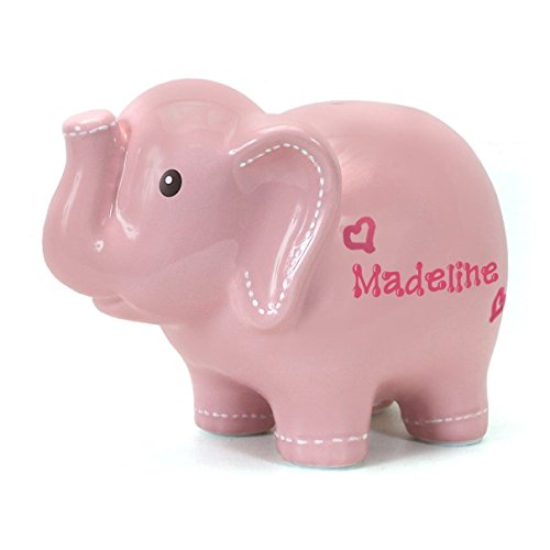 Personalized PINK Elephant Piggy Bank for Girls