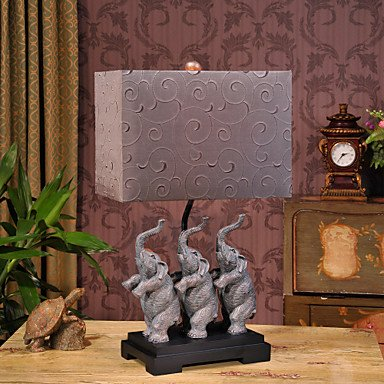 Creative Elephants Resin Table Lamp