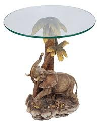 26″h Jungle Elephant Theme Table