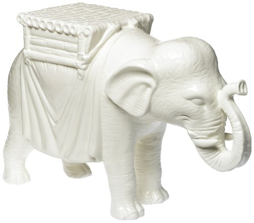 White Elephant Side Table Ceramic
