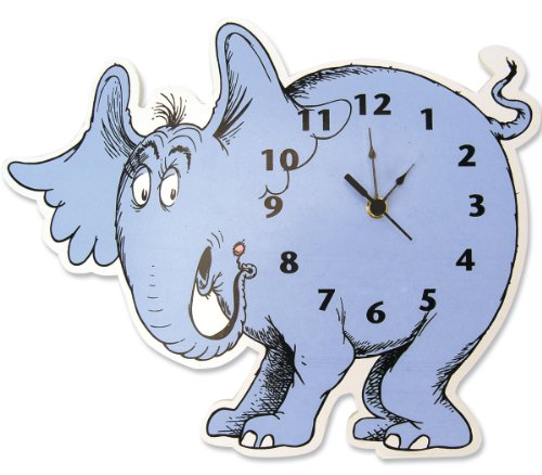 Dr. Seuss Horton Elephant Shaped Wall Clock