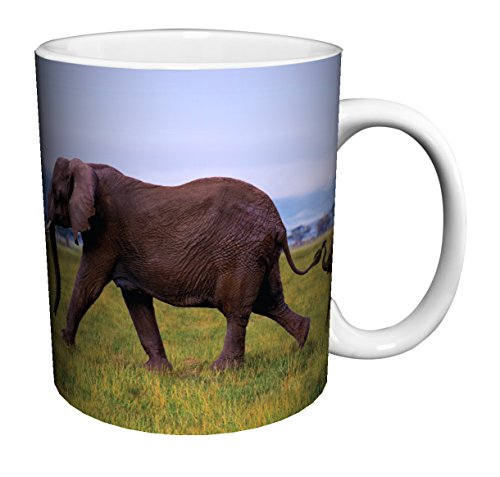 Elephants Linking Trunks Coffee Mug