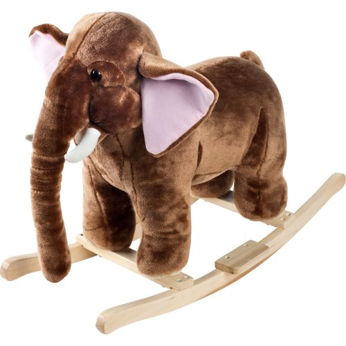 Cute Plush Rocking Mammoth Elephant