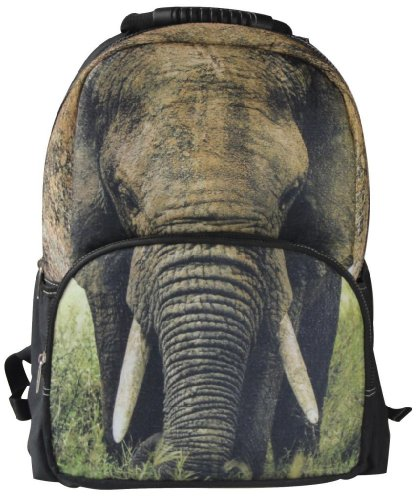 3D Elephant Print Backpack for Teens