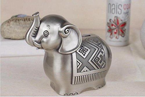 Cute Alloy Coin Money Box elephant