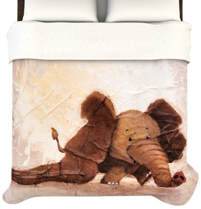 Cute Brown Elephant Duvet Cover