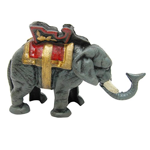 Unique Antique Die Cast Iron Elephant Mechanical Coin Bank