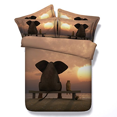 Elephant Digital Print Bedding Set
