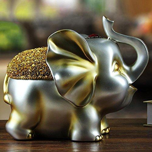 Metallic Elephant Piggy Bank