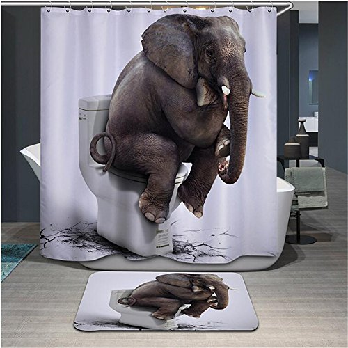 Funny Elephant Shower Curtain