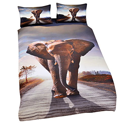 3D Elephant Print Bedding Set