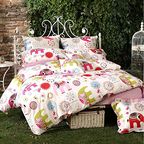 Cute Elephant Bedding Set for Girls